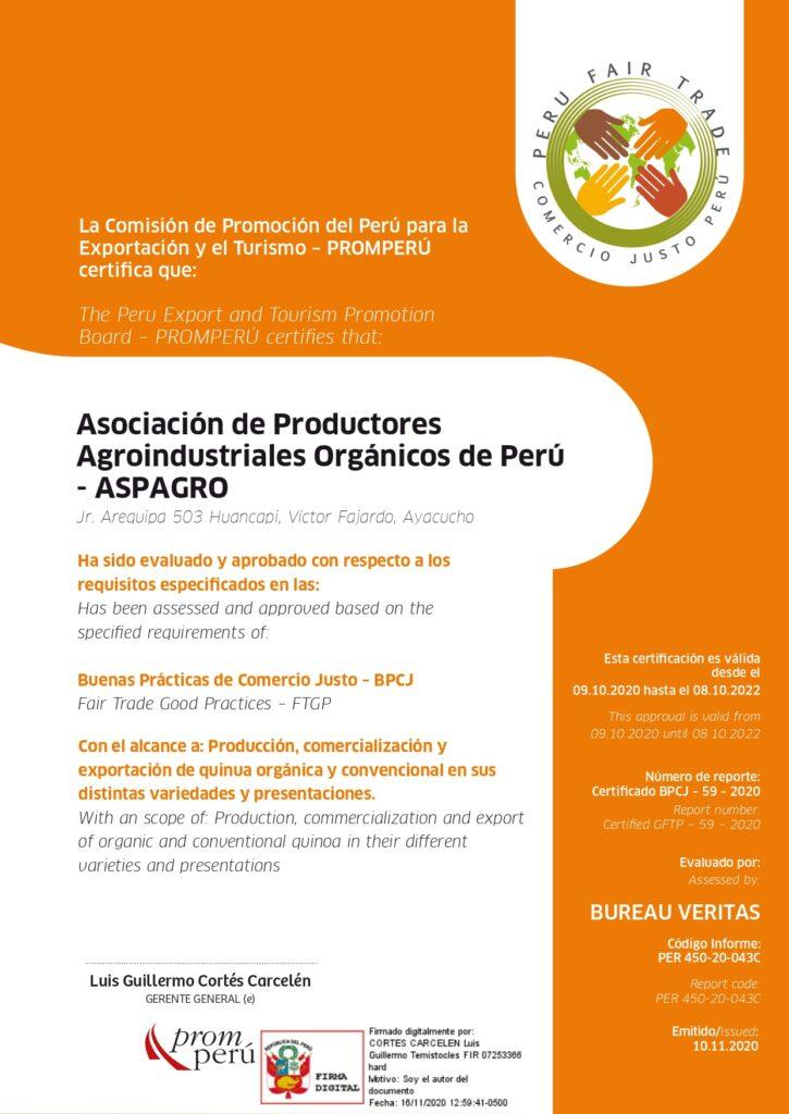 Certificación en Buenas Prácticas en Comercio Justo (BPCJ)