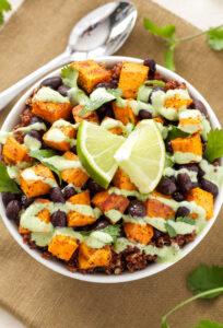 quinoa and sweetpotato bowl