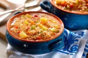 sopa minestroni con quinua