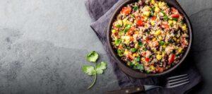 bowl de quinua a la mexicana